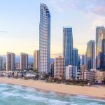 Beautiful view of the Gold Coast city, Queensland
